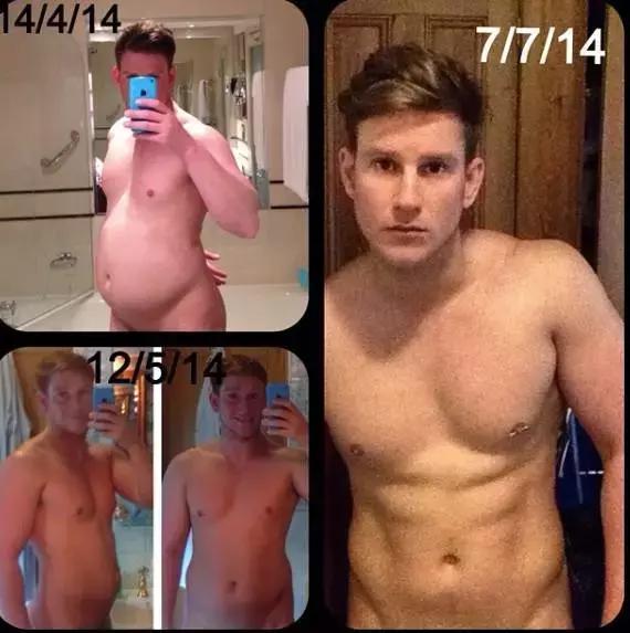 七個月,從孕婦男到肌肉型男,敢相信這是一個人麼?