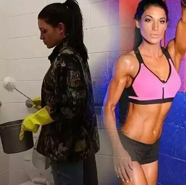 從廁所保洁阿姨到健身女模,她才是大寫的人生勵志!