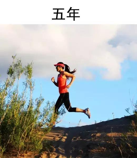 跑步1年、跑步3年、跑步5年的女人分別是什麼樣?