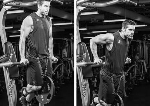 雙槓臂屈伸鍛煉胸大肌、三頭肌,比俯臥撐效果更好!